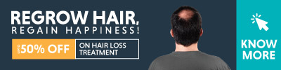 UPTO 50% Off on Hair Loss Treatment